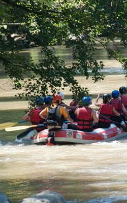Descente de rafting sur l'Ariège à Foix