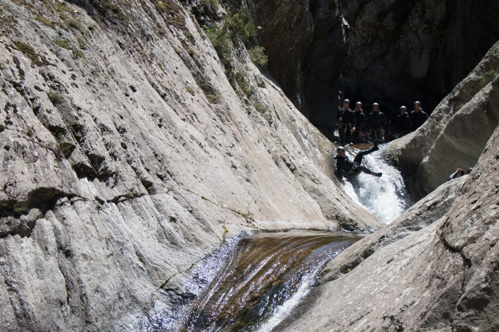 toboggan en canyoning dans les pyrénées