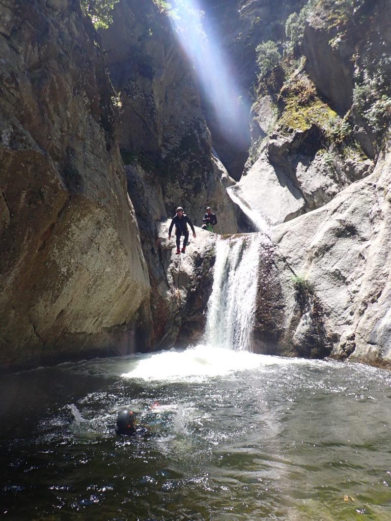 saut en canyon